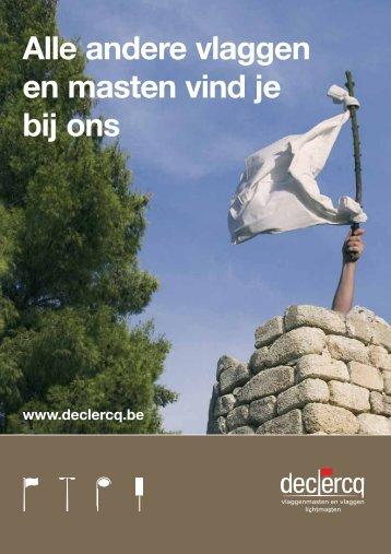 Alle andere vlaggen en masten vind je bij ons - Declercq NV