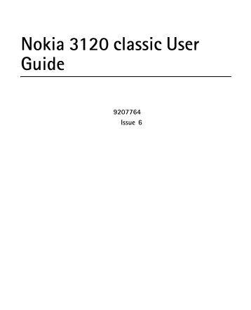 special instructions for your nokia 3120 roadpost rh yumpu com Nokia 3310 Nokia 3110