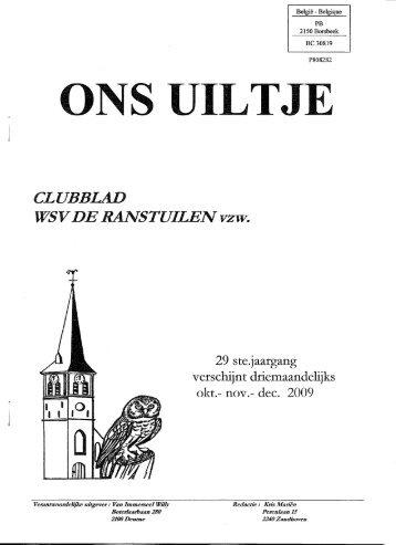 Clubblad 2009 Periode 4 - WSV De Ranstuilen Ranst