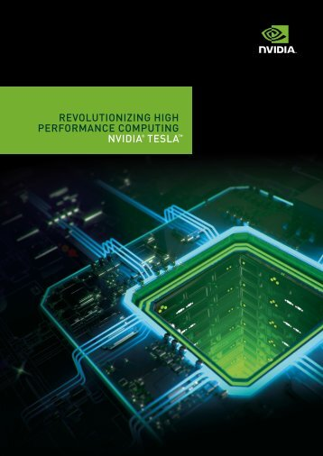 revolutionizing high performance computing nvidia® tesla - Elmtec