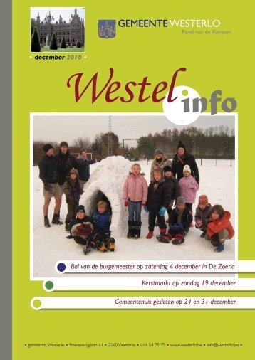 december 2010 - Gemeente Westerlo