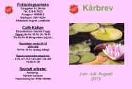 Kårbrev juni-juli-augusti 2013.pdf - Frälsningsarmén