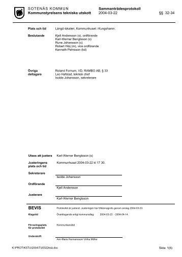 Tekniska utskottet 2004-03-22 §§ 32-34.pdf - Sotenäs kommun