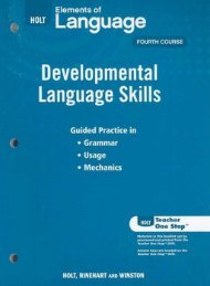 Developmental Language Skills