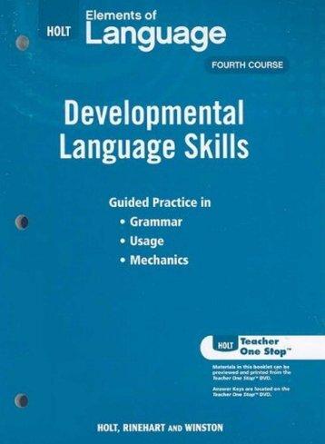 Developmental Language Skills