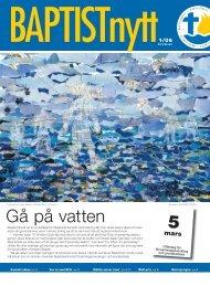 Gå på vatten - Svenska Baptistsamfundet