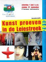 brochure van Kunstzomer Leiestreek