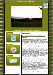 Nyhedsmail December 2012 - Esbjerg Golfklub