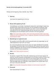 Notulen schoolraadvergadering 14 november 2012