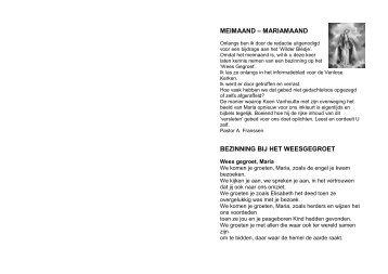 MEIMAAND – MARIAMAAND BEZINNING BIJ HET ... - Kerk Wahlwiller
