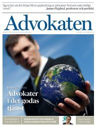 Advokater i det godas tjänst - Advokatsamfundet