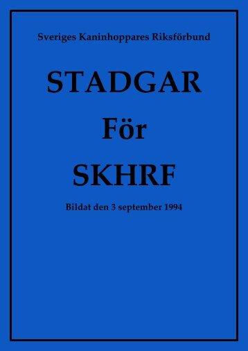 Stadgar - Sveriges Kaninhoppares Riksförbund