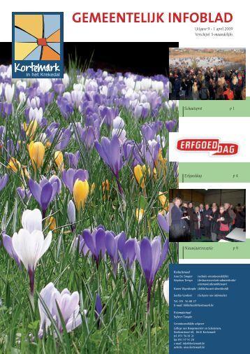 Infoblad uitgave 09: april 2009 - De gemeente Kortemark