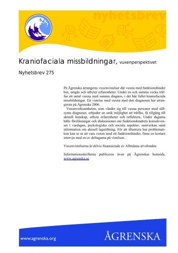 Kraniofaciala missbildningar, vuxenperspektiv - Ågrenska