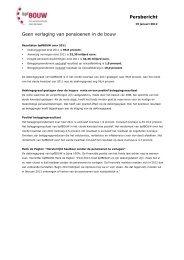 Persbericht Geen verlaging van pensioenen in de bouw - BPF bouw