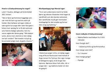 babysalmesang i Aalestrup Kirke