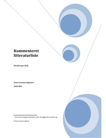 Kommenteret litteraturliste - Institut for Menneskerettigheder