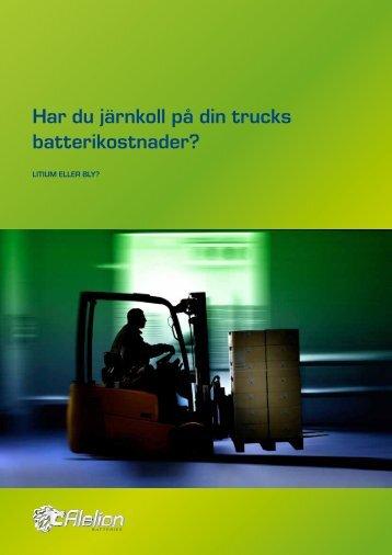 Har du järnkoll på din trucks batterikostnader? - Alelion Batteries