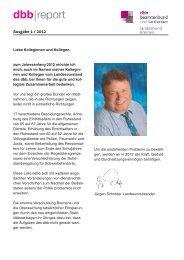 Ausgabe 1/2012 - [DBB] - Landesbund Bremen