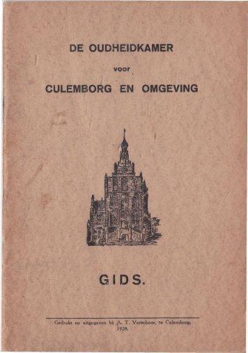 Boekje uit 1928 over de Oudheidkamer Culemborg. - Voet van ...