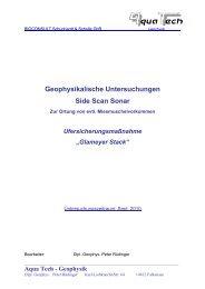Geophysikalische Untersuchungen Side Scan Sonar - Portal Tideelbe