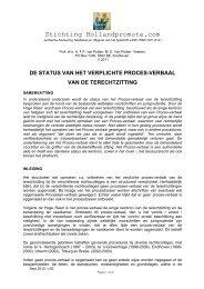 De status van het verplichte Proces -verbaal van de terechtzitting