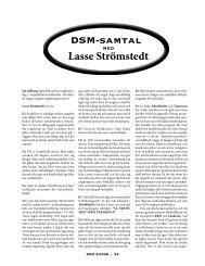 DSM-samtal Lasse Strömstedt