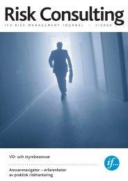 VD- och styrelseansvar Ansvarsnavigator – erfarenheter av ... - If P&C