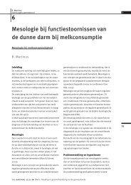 Mesologie bij functiestoornissen van de dunne darm bij ...