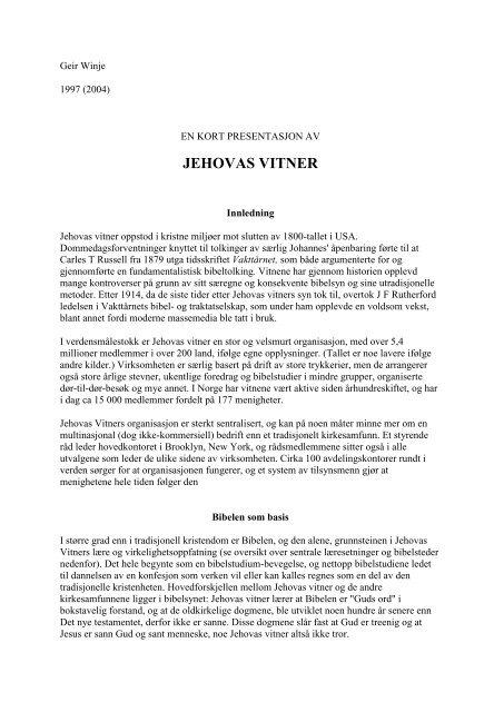 JEHOVAS VITNER