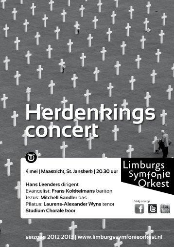 LSO_Concertfolder herdenkingsconcert 2013 ... - Studium Chorale