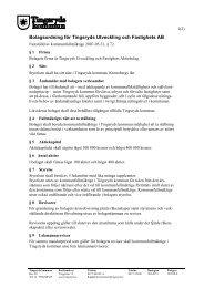 Bolagsordning för Tingsryds Utveckling och Fastighets AB
