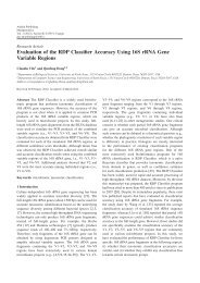 Evaluation of the RDP Classifier Accuracy Using ... - Ashdin Publishing