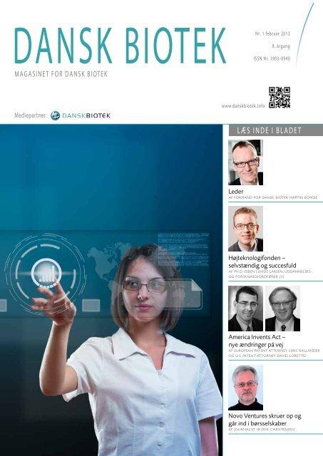 Magasinet for DANSK BIOTEK nr. 1 2013
