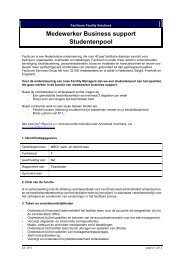 Medewerker Business support Studentenpool