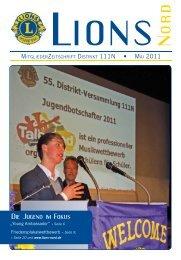 Die Jugend im Fokus - zur Mitgliederzeitschrift LIONS NORD