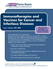 Immunotherapies and Vaccines for Cancer and Infectious Diseases