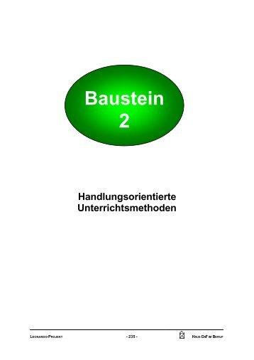 Baustein 2 Handlungsorientierte Unterrichtsmethoden