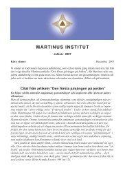 Julbrev 2007 - Martinus Institut