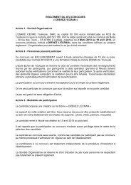 REGLEMENT DU JEU CONCOURS « CREVEZ l'ECRAN » Article 1 ...