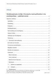 Multidisciplinaire richtlijn chronische ... - Kwaliteitskoepel
