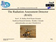 RAD - Space Radiation Analysis Group - Nasa