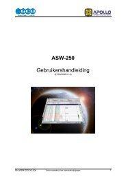 ASW-250 Gebruikershandleiding - Lobeco