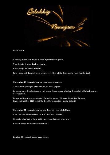 Beste leden, Vandaag schrijven wij deze brief speciaal voor jullie ...