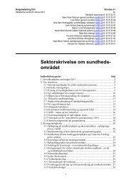 Sektorskrivelse om sundhedsområdet - Herning Kommune