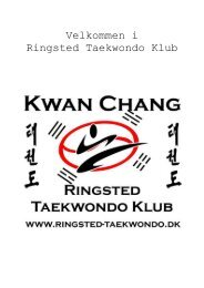 Velkomstmappe KUP - Ringsted Taekwondo Klub