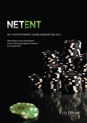 Redemption of shares 2013 - Net Entertainment