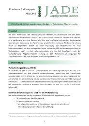 Erweitertes Positionspapier März 2012 - Junge Allgemeinmedizin ...