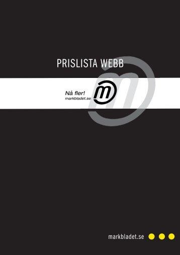 PRISLISTA WEBB - Markbladet