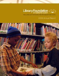 2008 Annual Report - Library Foundation of Hennepin County